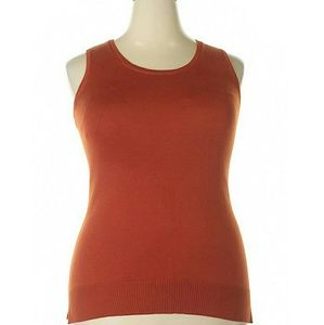 Chico's Orange Sleeveless Silk Blend Sweater M 1